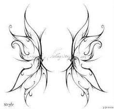 Fairy Wing Tattoos Love this in smaller version, in white, on my wrist.