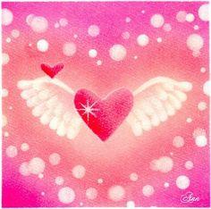 『Aile Art』エールアートAile はフランス語で翼。エールアートは天使の翼のパステルアートです。天使からの「エール」があなたに届きますように&hell...|ハンドメイド、手作り、手仕事品の通販・販売・購入ならCreema。 Soft Pastel Art, Pastel Drawing, Pastel Colors, Crystal Flower, Chalk Art, Backdrops, Stationery, Valentines, Crystals