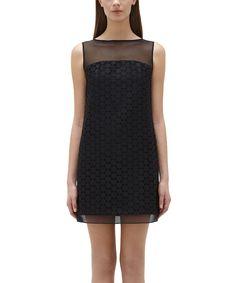 Love this Jill Jill Stuart Black Sheer-Yoke Sleeveless Dress by Jill Jill Stuart on #zulily! #zulilyfinds