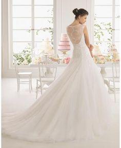 Elegantní & luxusní Bez rukávů S hlubokým výstřihem na zádech Svatební šaty…