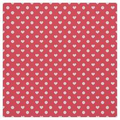 Pink Polka hearts Fabric