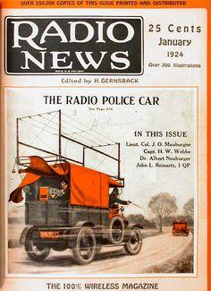 "Radio News...January 1924...""The Radio Police Car"" (650×896)"