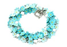 Hey, I found this really awesome Etsy listing at https://www.etsy.com/listing/214386036/floral-bracelet-forger-me-not-floral