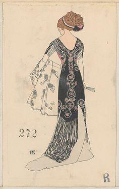 Fashion Mela Koehler (Austrian, Vienna 1885–1960 Stockholm) Publisher: Published by Wiener Werkstätte Date: ca. 1907/8–14