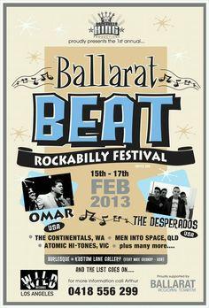 Ballarat Beat Rockabilly Festival - 15th to 17th Feb 2013 in Camp Street Ballarat.