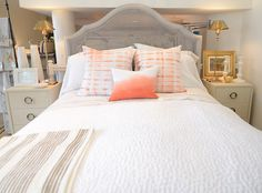 Redford House Bed + John Robshaw Coverlet + Rebecca Atwood Pillows + Pom Pom Cases + Isabella Shop!