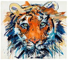 Tiger (Giclee with Silkscreen and Varnished Signed Limited Edition of by Dave White Watercolor Tiger, Tiger Painting, Tiger Artwork, Painting Tattoo, Painting Art, Anime Comics, Dave White, James Rosenquist, Tableau Pop Art