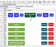How To Make Digital Flashcards With Google Docs Spreadsheets [Web & iOS/Android]