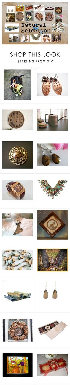 """Natural Selection: Handmade & Vintage Gifts"" by paulinemcewen ❤ liked on Polyvore featuring Michal Negrin, Encanto, rustic and vintage"