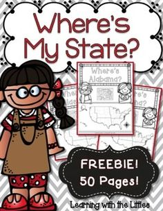 FREE! Your children will enjoy finding the states using these fun pages! ALL STATES! This set goes along nicely with my State Symbols Notebooks ******************************************************* If you like this freebie, please consider leaving me feedback!