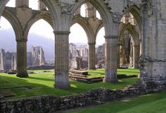 Rievaulx Abbey built in Yorkshire in 1132 for Cistercian monks