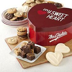 Mrs. Fields Luxurious Love Box with 3 FREE Cookies