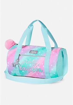 Gear her up for a sleepover or gymnastics class with colorful girls' duffel bags & totes from Justice. Shop a variety of bags for any outing! Justice Backpacks, Justice Bags, Shop Justice, Gymnastics Bags, Cute Luggage, Unicorn Fashion, Back Bag, Backpack Purse, Camo Purse