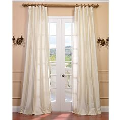Signature Pearl White Textured Silk Curtain | Overstock™ Shopping - Great Deals on EFF Curtains