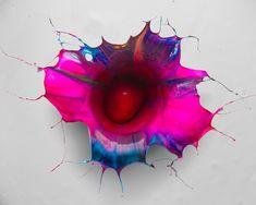 fabian oefner unites gravity and paint to create liquid orchids - designboom | architecture
