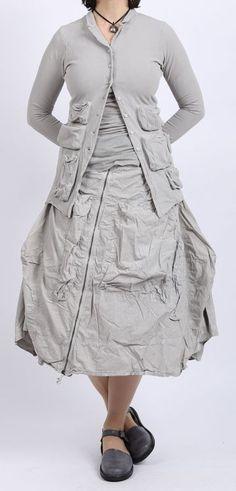 rundholz dip - Ballonrock Cotton mit Reißverschluss grey pigment - Sommer 2016 - stilecht - mode für frauen mit format...