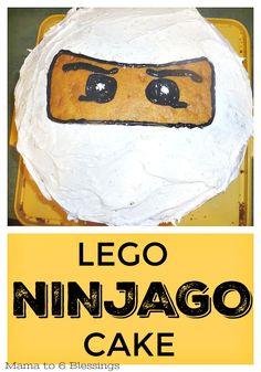 Birthday Cake Cookies, Ninja Birthday Cake, Ninja Cake, Ninja Birthday Parties, Lego Ninjago Cake, Ninjago Party, Lego Cake, Superhero Cake, Fun Desserts
