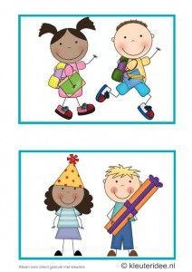 Dagritmekaarten voor kleuters 1, kleuteridee.nl , naar huis en verjaardag, daily schedule cards for preschool 1, free printable