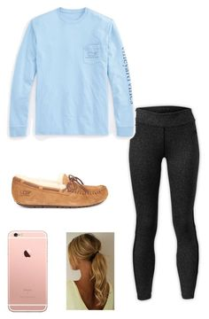 """Untitled #1"" by purple-paisley ❤ liked on Polyvore featuring The North Face, Vineyard Vines and UGG Australia"