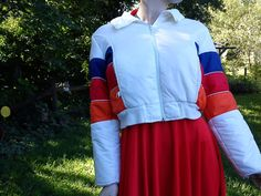 20e2ce9934 Cropped 80s Ski Jacket 80s Jacket Vintage jacket by  gottagovintage1 80s  Ski Jacket