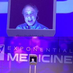 Ray Kurzweil addresses the #xMed audience as an avatar