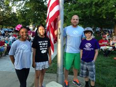 Boys & Girls Club members from our Schwegler site raised the flag at yesterday's City Band Concert.  It was a beautiful night featuring music from Frozen and a march around the park. What a great event for Lawrence families!