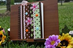 Unique Art Journal  Hipster/Mod Style by FindYourArtisticSoul, $25.00  The Etsy store is now open!
