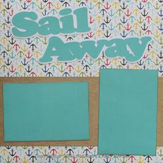 """Up for your consideration is (1) Completed Scrapbook Double (2) Page Layout. The title says """"Sail Away"""". This completed layout can hold (5) 4x6 or smaller photos. Just add photos!"""