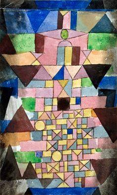 Paul Klee.   More of his wonderful pieces using geometrics.