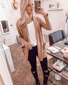 Warm Outfits, Simple Outfits, Casual Outfits, Fashion Outfits, Chilly Day Outfit, Outfit Of The Day, Looks Style, My Style, Winter Wardrobe