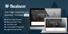 M-Business One Page Corporate and Business Template by DifferentCoder M-Business One Page Corporate and Business Template Fully Layered PSD files organized by layered name and Free Fonts are used. You can put your image by using smart object. Creative Layout and Smart. Super Clear and Clean Layout!