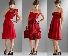 vestidos social vermelho