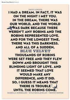 David Lynch's Blue Velvet Poster