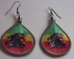 Trendy Handmade Bob Marley Colorful Thread Earrings Free Shipping and Gift $5.80