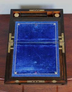 ANTIQUE VICTORIAN COROMANDEL WRITING BOX / SLOPE