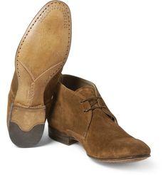 Alexander McQueenWashed-Suede Desert Boots MR PORTER