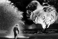 Sebastiao Salgado: Oil wells firefighter, Greater Burhan, Kuwait, 1991
