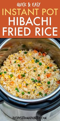 Instant Pot Fried Rice is a quick, easy and tasty way to use up all those leftovers. Skip the takeout and whip up delicious pressure cooker fried rice. Best Instant Pot Recipe, Instant Recipes, Instant Pot Dinner Recipes, Instant Pot Meals, Instant Pot Chinese Recipes, Rice Recipes For Dinner, Arroz Frito, Easy One Pot Meals, One Pot Rice Meals