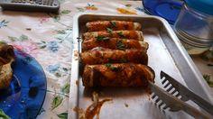 Panquecas carne e frango