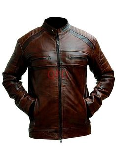 Mens Cafe Racer Brown Jacket Biker Motorcycle Bikei Real Leather Jacket  | Clothes, Shoes & Accessories, Men's Clothing, Coats & Jackets | eBay!