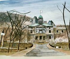 McGill University. Work in progress. Watercolour 🎨