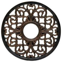 Westinghouse, 16 in. Round Parisian Scroll Antique Bronze Finish Ceiling Medallion, 7776400 at The Home Depot - Mobile