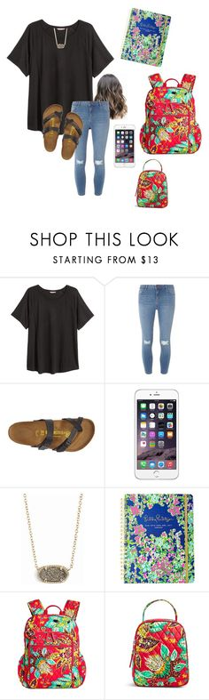 """""""i just wanna move schools sometimes ..."""" by mallory-d ❤ liked on Polyvore featuring H&M, Dorothy Perkins, Birkenstock, Kendra Scott, Lilly Pulitzer and Vera Bradley"""