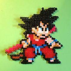 Goku Dragon Ball hama beads by naxy_pixel