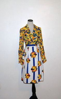 Vintage Blouse / Skirt Touch of Gold with by CheekyVintageCloset, $32.00