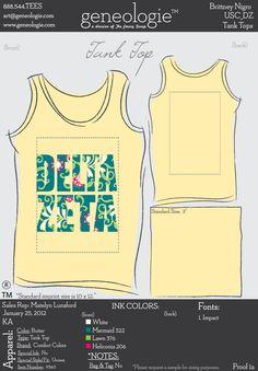 USC DZ yellow frat tanks from Geneologie #deltazeta