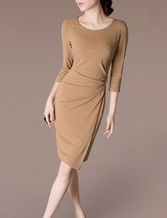 Apricot Dress Business Casual Wear