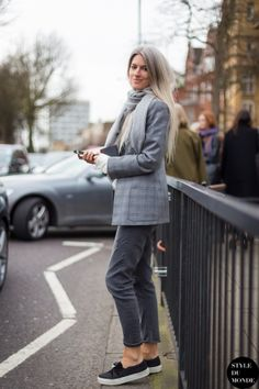 London Fashion Week FW 2014 Street Style: Sarah Harris