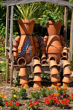 Pot People at The Oregon Gardens, Silverton    @Joan Cunnings