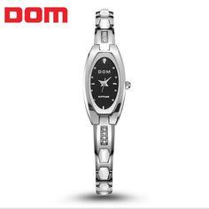 DOM-733  brand women  luxury tungsten quartz watch relogio feminino rose gold elegant fashion casual watches montre femme #Affiliate